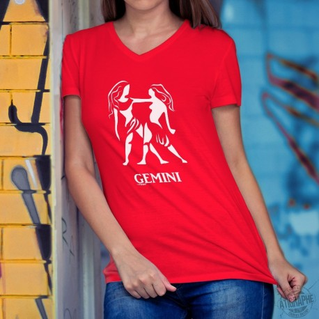 Lady's fashion cotton t-shirt - astrological sign - Gemini