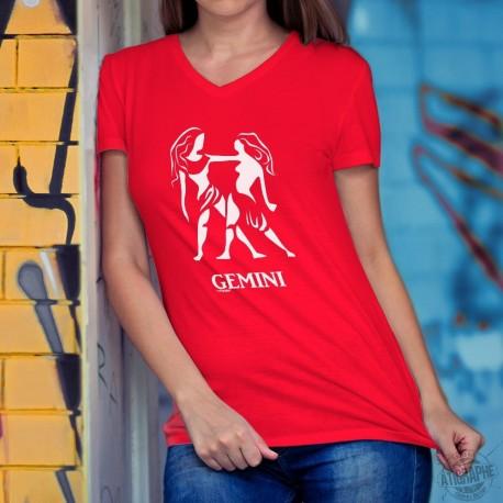 T-Shirt coton dame - signe astrologique - Gémeaux