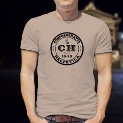 T-Shirt mode homme - Confoederatio Helvetica depuis 1848