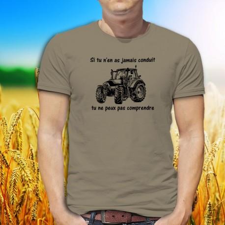 T-Shirt humoristique mode homme - Conduire un tracteur