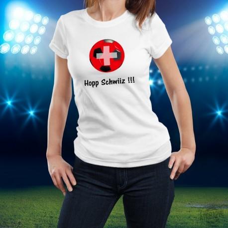 Women's slim T-Shirt - Soccer - Hopp Schwiiz !!!