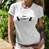 Lady T-Shirt - Chat t'étonne ?