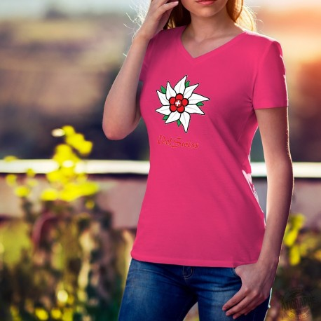 T-shirt coton mode dame - EdelSwiss - Edelweiss suisse