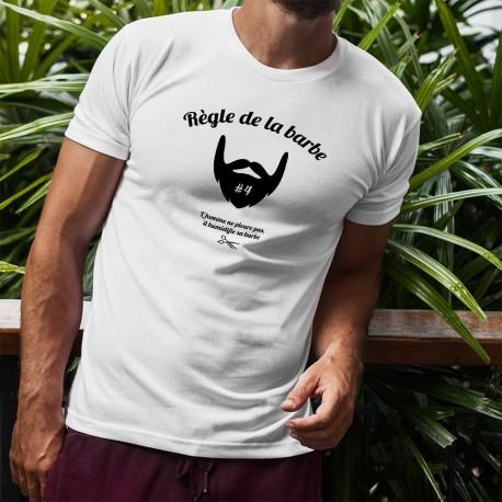 T-Shirt humoristique homme - Règle de la barbe 4 - humidifier sa barbe