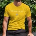 Men's cotton T-Shirt - C'est papa qui fait la Loi