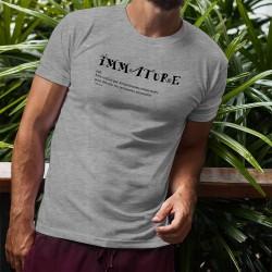 Uomo Funny T-Shirt - Immature