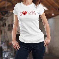 Frauen mode T-shirt - LOVE Glarus - Herz Kanton Glarus Wappenschild