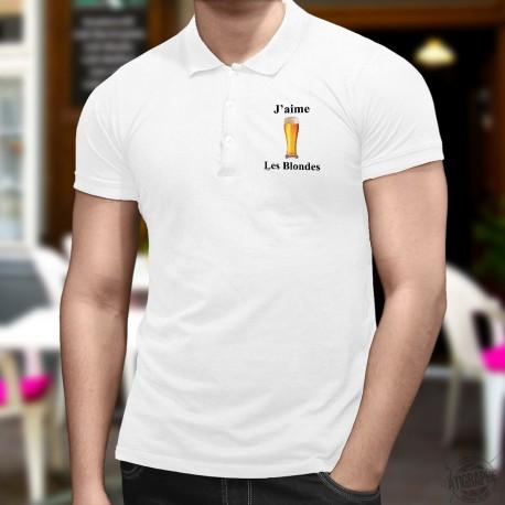 Herren Mode Polo shirt - J'aime les Blondes