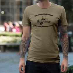 T-Shirt humoristique mode homme - Conduire un camion américain
