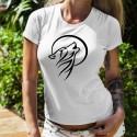 Donna T-Shirt ☾ Lupo che ulula alla luna