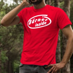Herren Mode Baumwolle T-Shirt - Bärner inside - Bärner innen