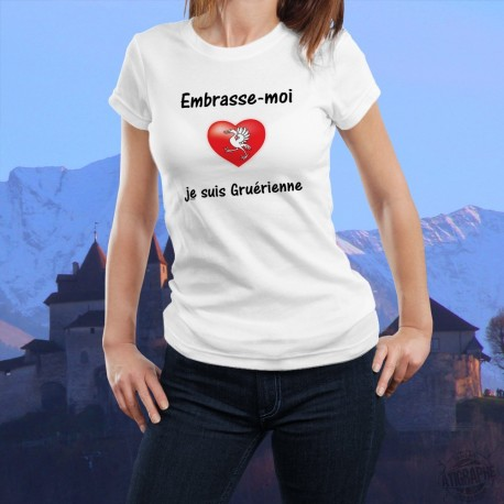 Mode T-shirt - Embrasse-moi je suis Gruérienne