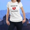 T-Shirt mode - Embrasse-moi je suis Gruérienne