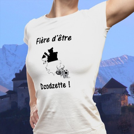 Women's slinky T-Shirt - Fière d'être Dzodzette 3D and Cow