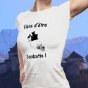 Donna moda T-shirt - Fière d'être Dzodzette