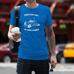 Men's cotton T-Shirt - Embrasse-moi je suis routier