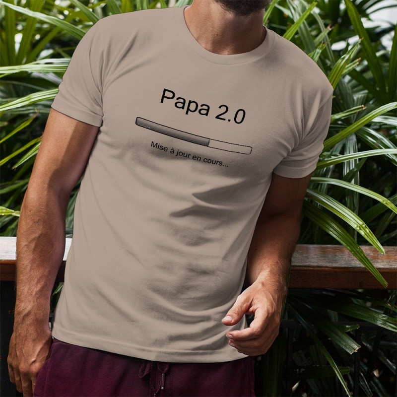 t shirt humoristique homme papa 2 0. Black Bedroom Furniture Sets. Home Design Ideas