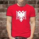 Men's cotton T-Shirt - Albanian eagle