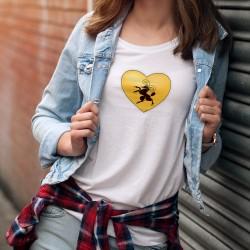Frauen mode T-shirt - Schaffhausen Herz
