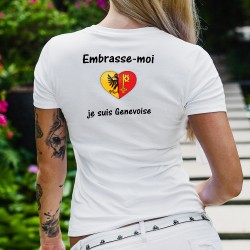T-shirt mode dame - Embrasse-moi je suis Genevoise