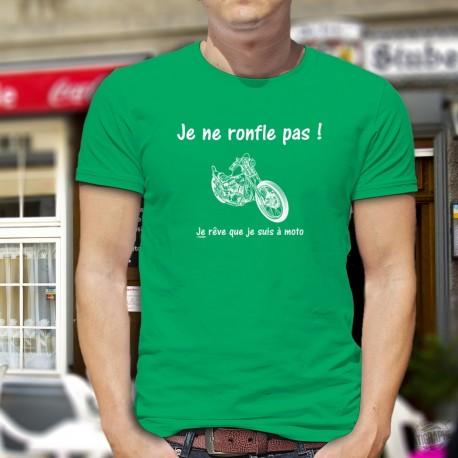 T-shirt coton mode homme - Je ne ronfle pas - Chopper
