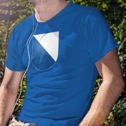 Uomo cotone T-Shirt - Stemma del cantone di Zurigo