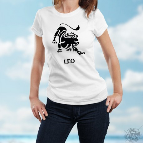 T-Shirt astrologique mode dame - signe Lion