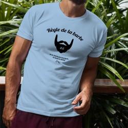 T-Shirt humoristique homme - Règle de la barbe 6 - La barbe te choisit