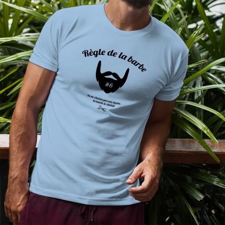 Funny T-Shirt - Règle de la barbe N°6