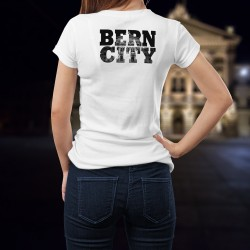 Frauen mode T-shirt - BERN CITY Black - Bundeshaus