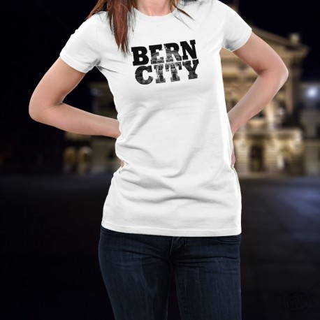 T-Shirt mode femme - BERN CITY Black - Palais fédéral