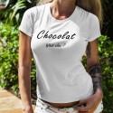 Chocolat, What else ? ✿ Chocolat, quoi d'autre ? ✿ T-Shirt mode dame