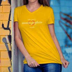 Donna cotone T-Shirt - Maman parfaite