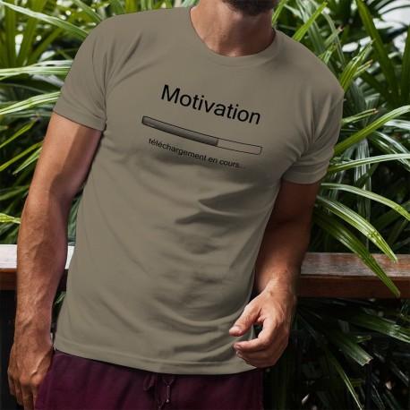 T-Shirt humoristique homme - Motivation, téléchargement en cours