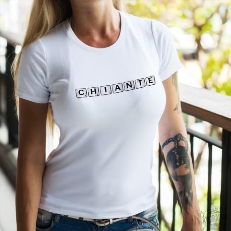 T-shirt humoristique mode dame - Chiante - Scrabble