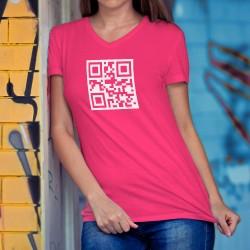 Baumwolle T-Shirt - Coeur libre - QR-code