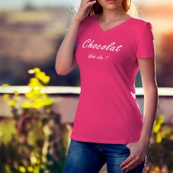 Women's cotton T-Shirt - Chocolat, What else ?