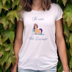Donna moda T-shirt - Je suis une Licorne