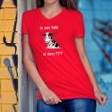 Women's cotton T-Shirt - Je suis folle et alors