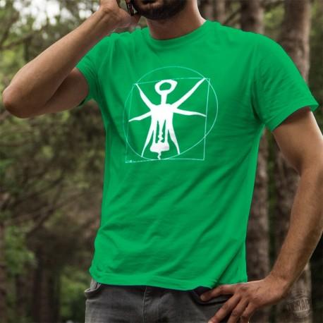 Herren Mode Baumwolle T-Shirt - Der Vitruvianische Korkenzieher