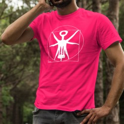 Men's cotton T-Shirt - The Vitruvian corkscrew