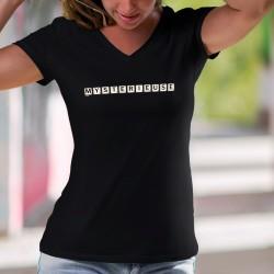 Donna cotone T-Shirt - Mystérieuse