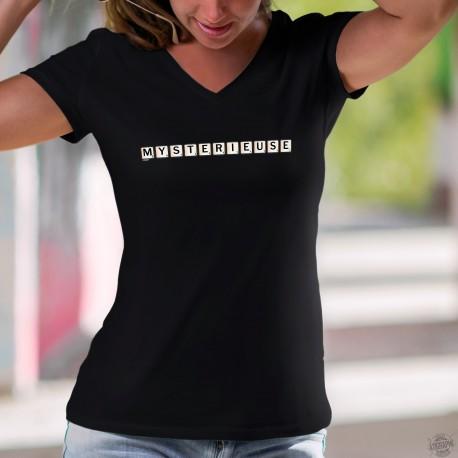 T-shirt mode coton Dame - Mystérieuse - Scrabble