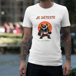 T-Shirt humoristique mode homme - Je déteste les légumes - Panda