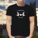 Men's cotton T-Shirt - In Dzodzetland we Trust - Holstein cow