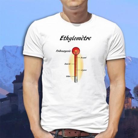 T-Shirt humoristique - Ethylomètre fribourgeois - mode homme