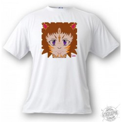 Kids T-shirt - Koko le Tigre, White