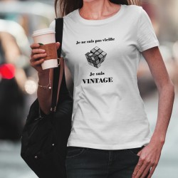 Frauenmode funny T-shirt -  Vintage Rubik's cube