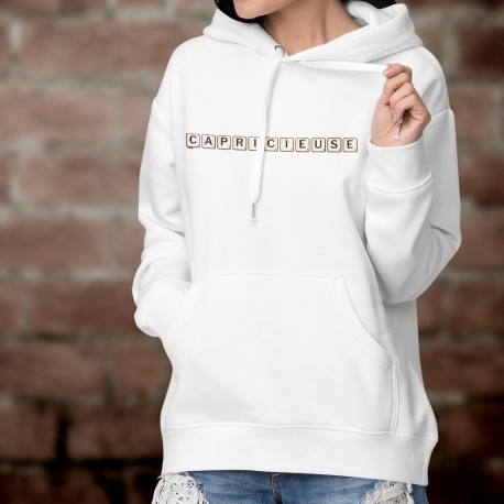 Hooded Funny Sweat - Capricieuse