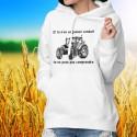 Pull à capuche - Conduire un tracteur